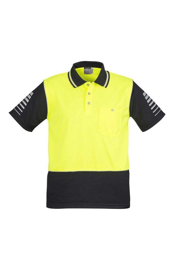 Mens Hi Vis Zone Polo - Yellow/Black