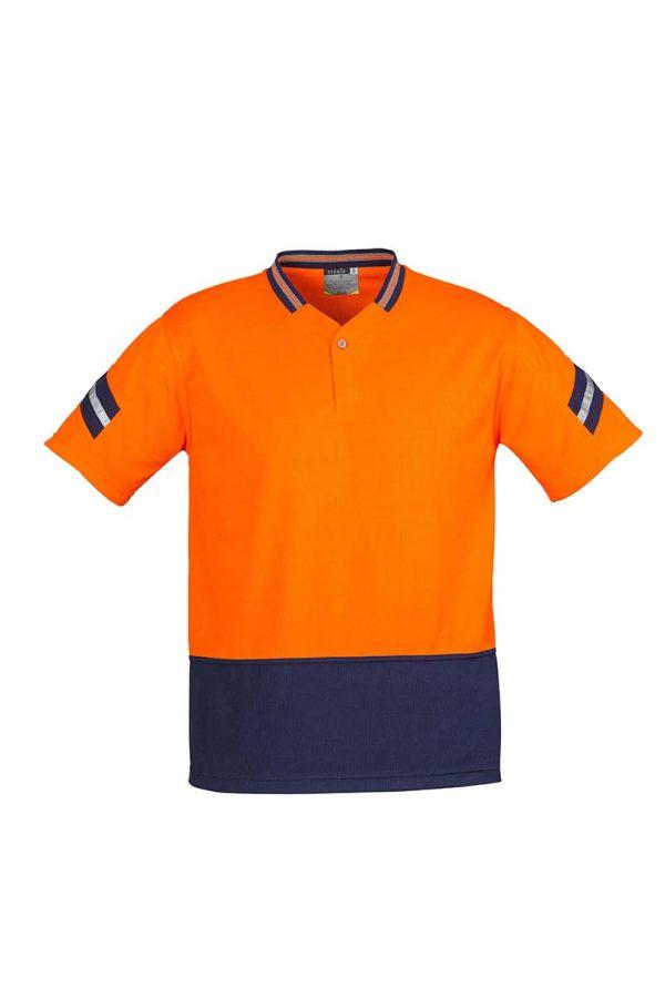 Mens Hi Vis Astro Polo - Orange/Navy