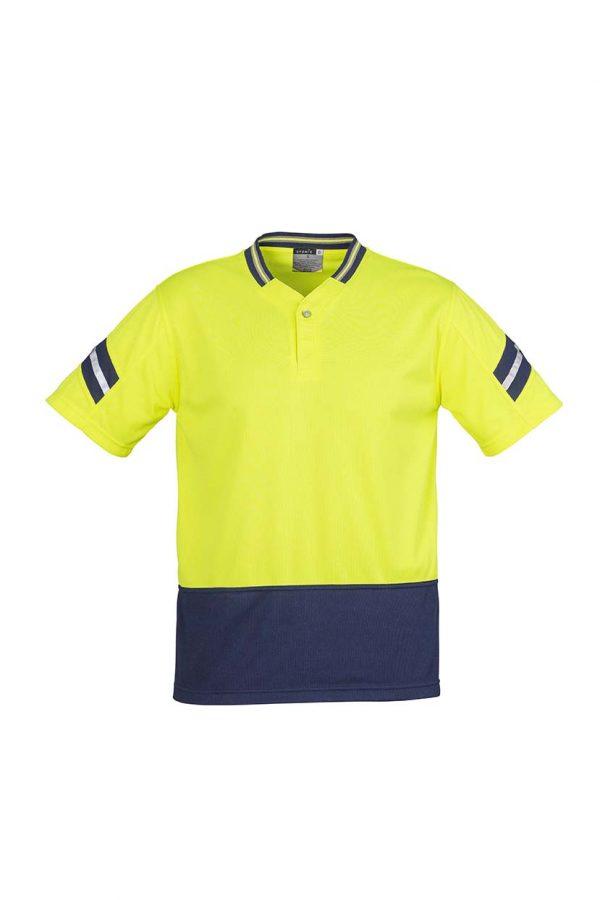 Mens Hi Vis Astro Polo - Yellow/Navy
