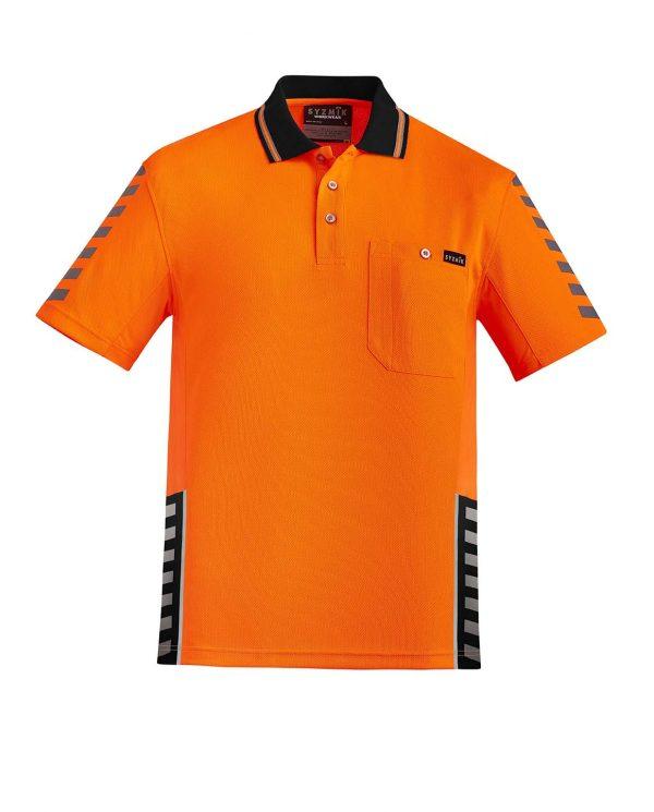 Mens Komodo Polo - Orange/Black