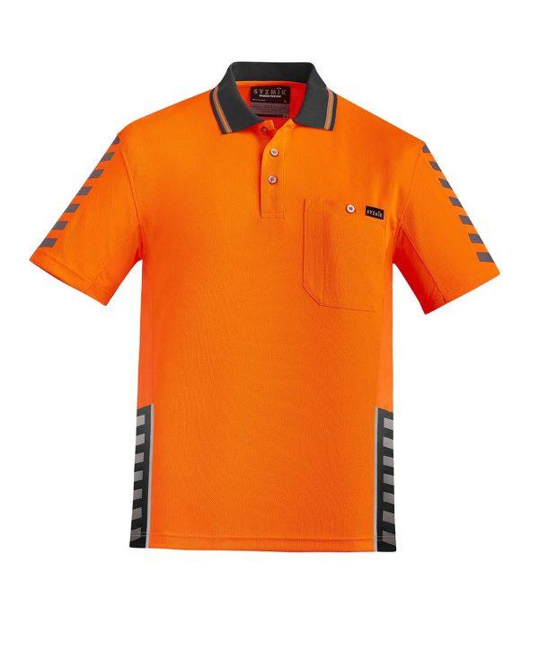 Mens Komodo Polo - Orange/Charcoal