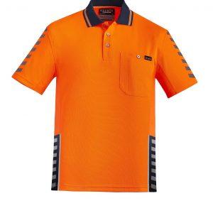 Mens Komodo Polo - Orange/Navy