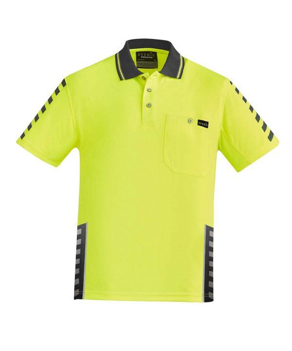 Mens Komodo Polo - Yellow/Charcoal