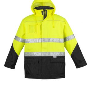 Mens Hi Vis Storm Jacket - Yellow/Black