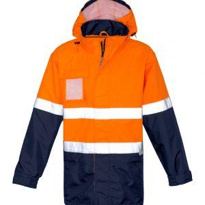 Mens Ultralite Waterproof Jacket - Orange/Navy
