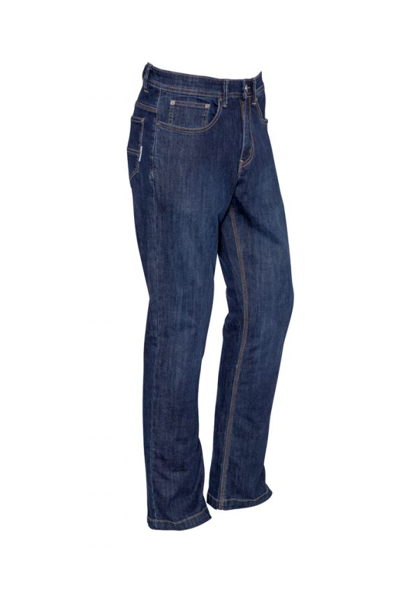 Mens Stretch Denim Work Jeans - Blue Denim