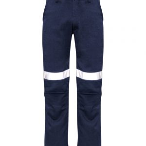 Mens Traditional Style Taped Work Pant - Navy