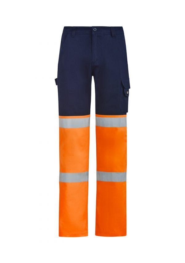 Mens Bio Motion Hi Vis Taped Pant - Orange/Navy