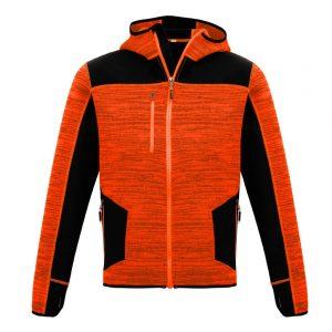Unisex Streetworx Reinforced Knit Hoodie - Orange/Black