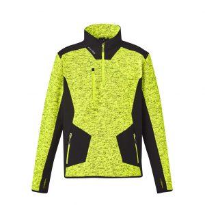 Unisex Streetworx Reinforced 1/4 Zip Pullover - Yellow/Black