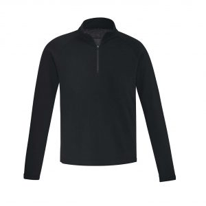 Mens Merino Wool Mid-Layer Pullover - Black