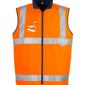 Mens Hi Vis Lightweight Fleece Lined Vest - Orange