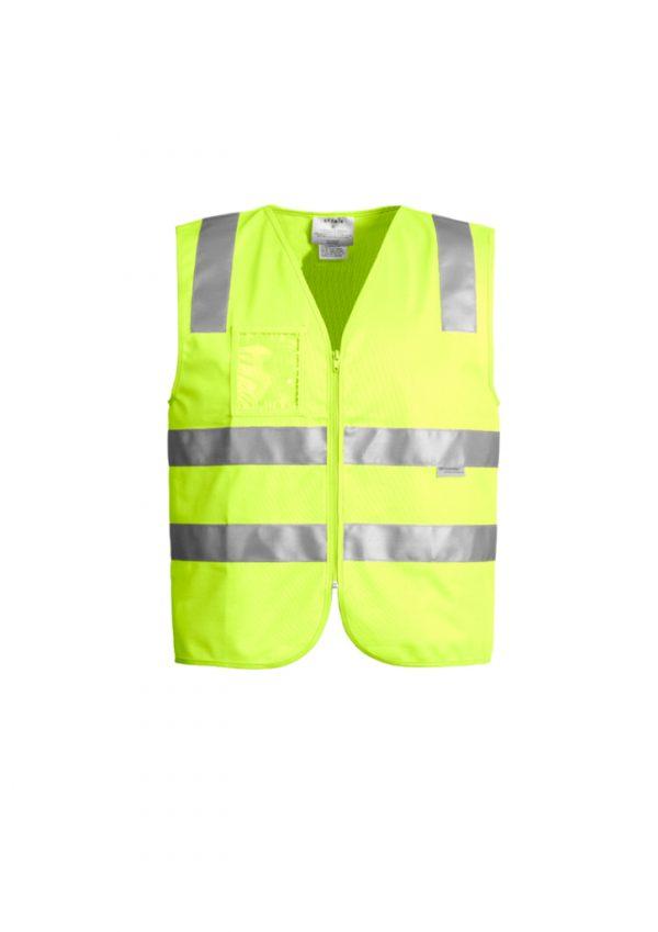 Unisex Hi Vis Full Zip Vest - Yellow