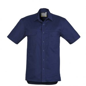 Mens Light Weight Tradie S/S Shirt - Blue