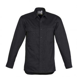 Mens Lightweight Tradie L/S Shirt - Black