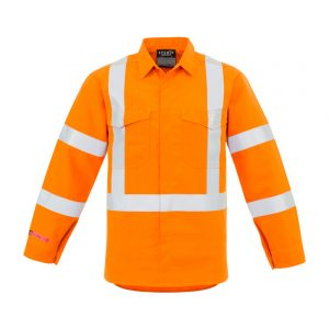 Mens X Back Taped Shirt - Orange