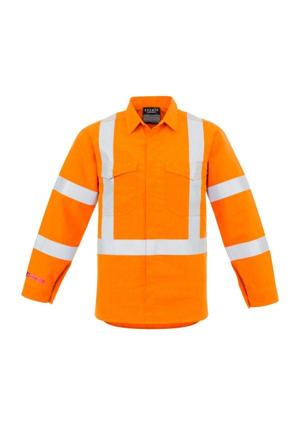 Mens X Back Taped Shirt - Orange