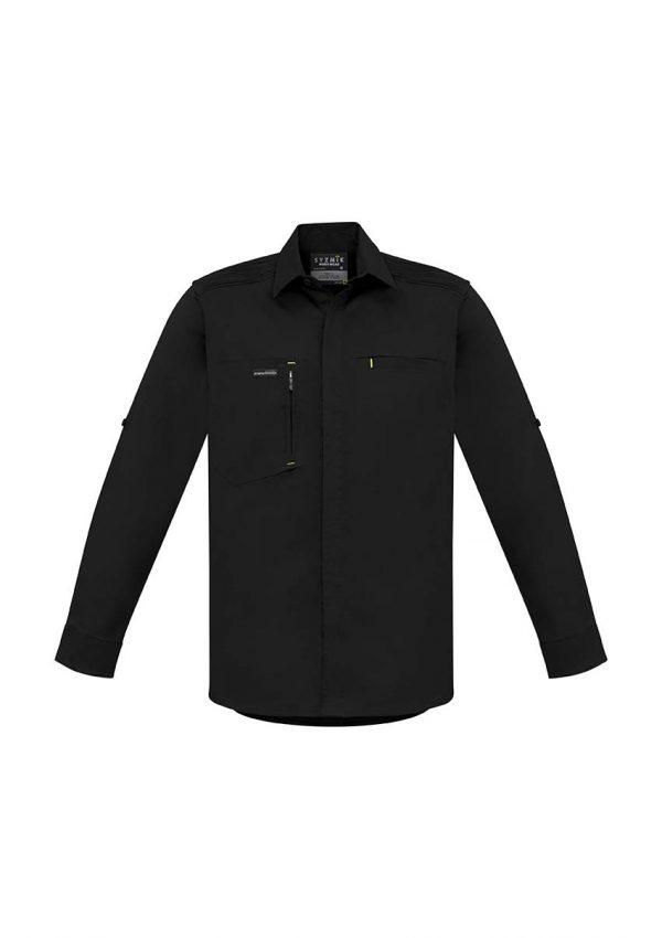 Mens Streetworx L/S Stretch Shirt - Black