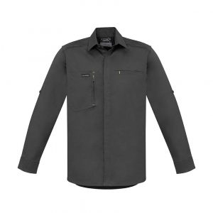 Mens Streetworx L/S Stretch Shirt - Charcoal