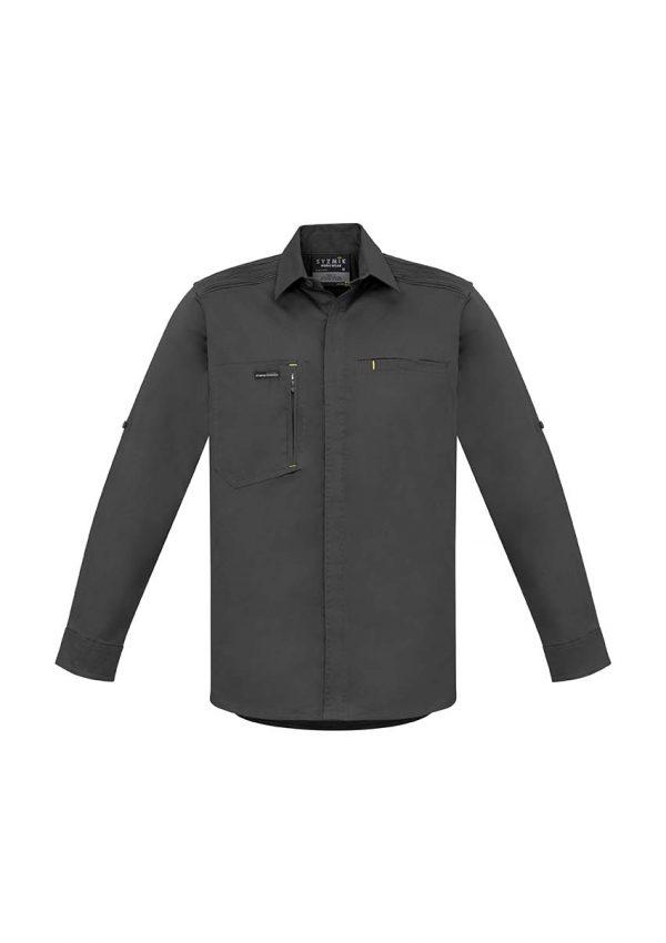 Mens Streetworx L/S Stretch Shirt - Charcoal