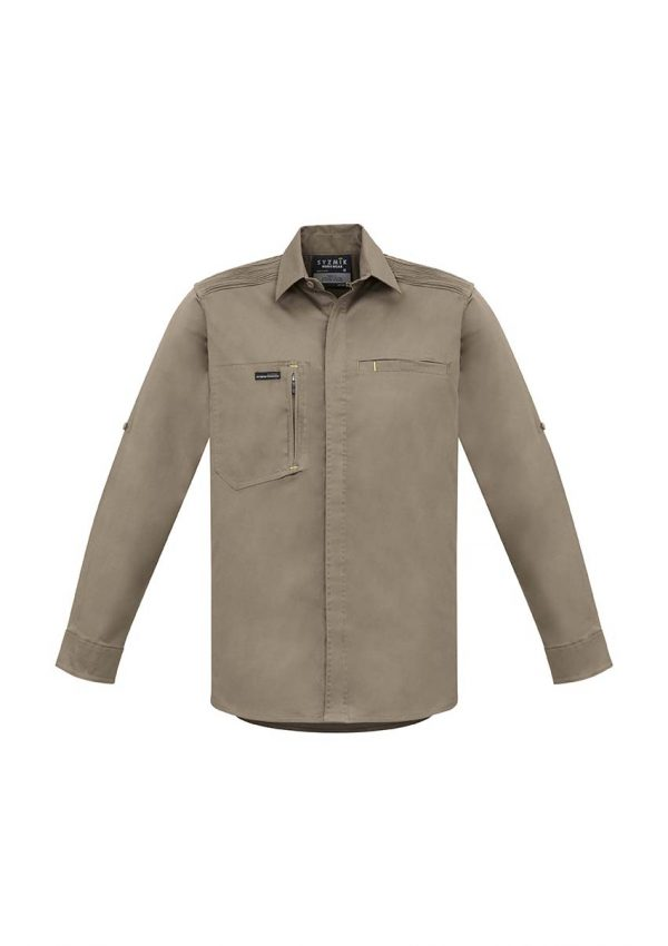 Mens Streetworx L/S Stretch Shirt - Khaki