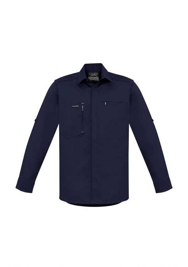Mens Streetworx L/S Stretch Shirt - Navy