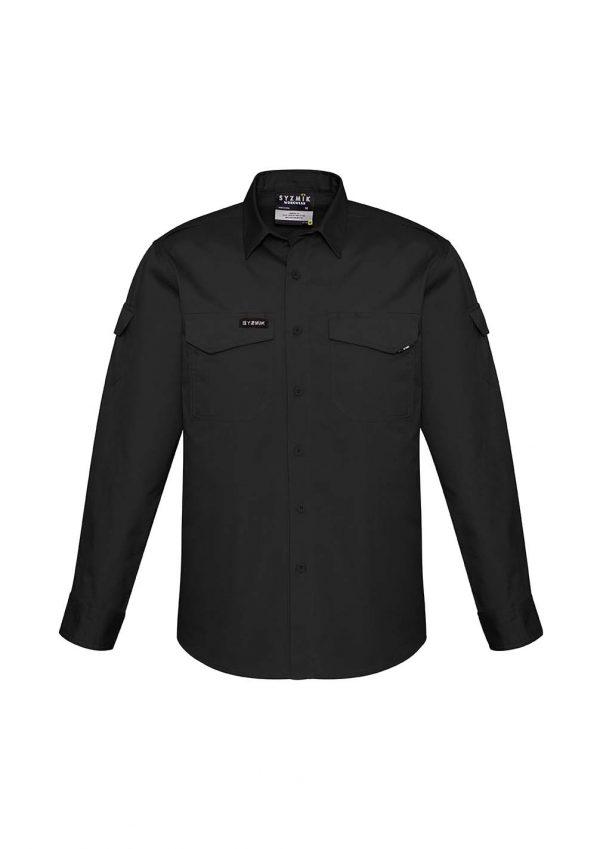 Mens Rugged Cooling Mens L/S Shirt - Black