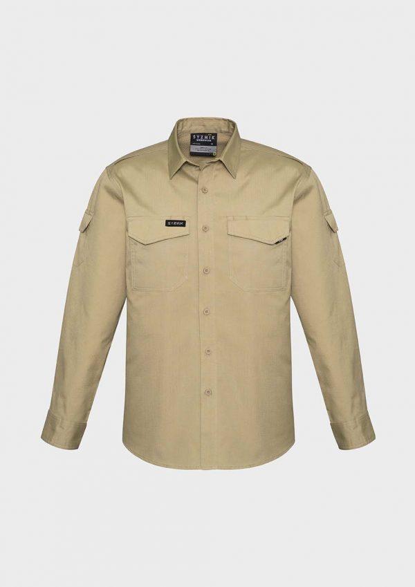 Mens Rugged Cooling Mens L/S Shirt - Khaki