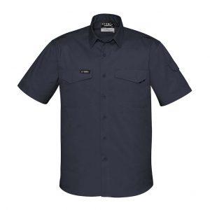 Mens Rugged Cooling Mens S/S Shirt - Charcoal