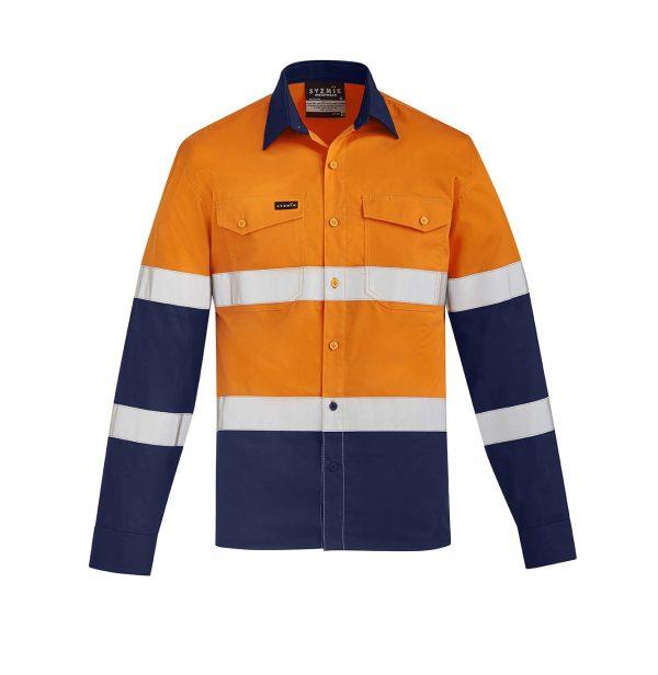 Mens Lightweight Bio Motion Shirt - Orange/Navy