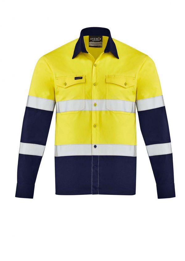 Mens Lightweight Bio Motion Shirt - Yellow/Navy