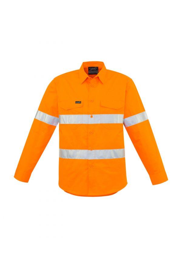Mens Hi Vis Hoop Taped Shirt - Orange