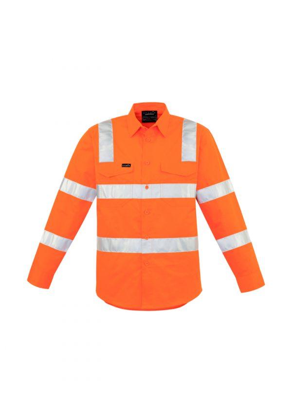 Mens Bio Motion Vic Rail Shirt - Vic Rail Orange