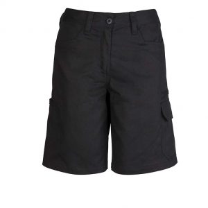 Womens Plain Utility Short - Black