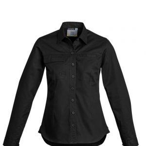 Womens Lightweight Tradie L/S Shirt - Black