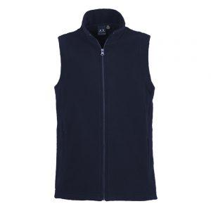 Ladies Plain Micro Fleece Vest - Navy