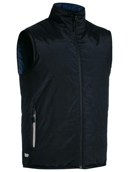 BV0328 Unisex Reversible Puffer Vest Black