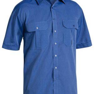 BS1031 Mens Short Sleeve Metro Shirt Blue