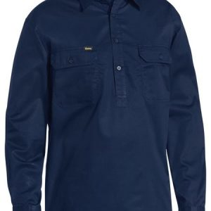 BSC6820 Navy Clsoed Front Work Shirt