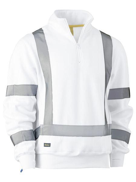 X Taped Fleece Pullover - BK6321XT - White