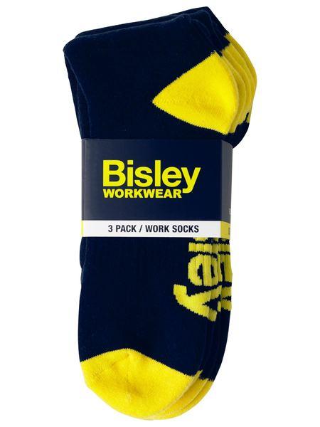 Work Socks - 3 Pack - BSX7210 - Navy