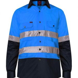 2 Tone Open Front Long Sleeve Shirt with 3M 8910 reflective tape - RM1050R