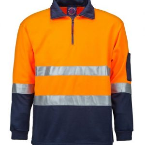 Half zip fleecy pullover with 3M 8910 reflective tape - RM6012R