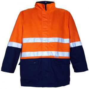 4 in 1 two tone 100% cotton drill jacket with 3M 8910 reflective tape - RM73N1R