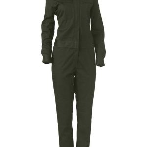Ladies Cotton Drill Coverall - BCL6065 - Olive