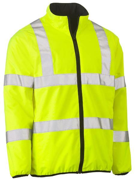 Taped Hi Vis Reversible Puffer Jacket - BJ6350HT - Yellow