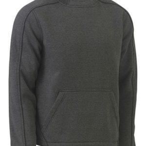 Flex and Move™ Marle Fleece Hoodie Jumper - BK6983 - Charcoal