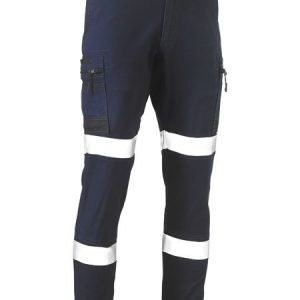 Flex and Move™ Taped Stretch Cargo Cuffed Pants - BPC6334T - Navy
