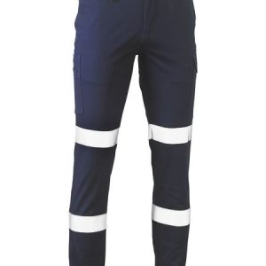 Taped Biomotion Stretch Cotton Drill Cargo Pants - BPC6028T - Navy
