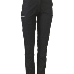 Ladies Stretch Cotton Pants - BPL6015 - Black